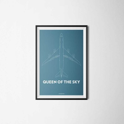 illustration of the boeing 747 called queen of the sky