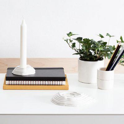 Mt-Fuji-Tealight-Holder made of plaster mood image