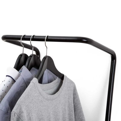 small clothes hanging rail black