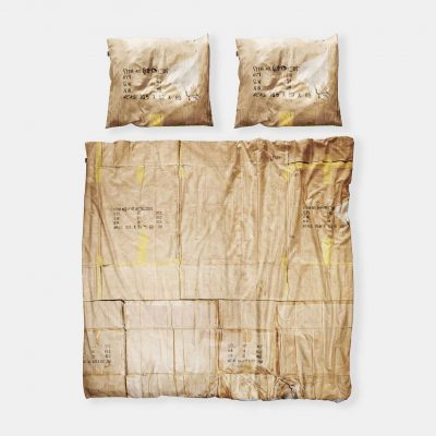 Snurk cardboard duvet cover le clochard cut out