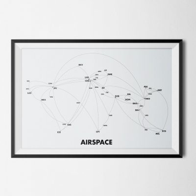 airspace grey world map of airport hub