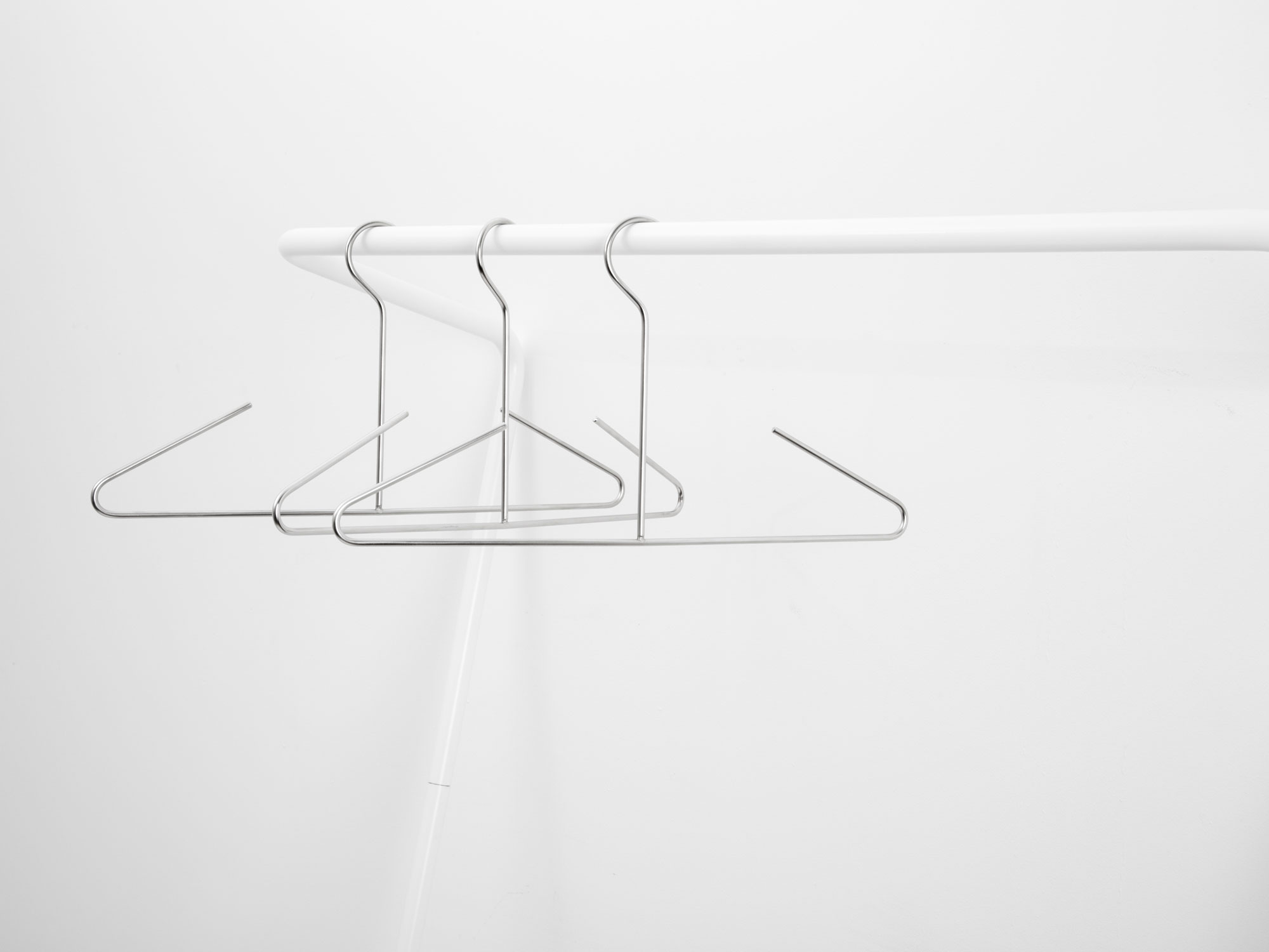 white cloth rail in large